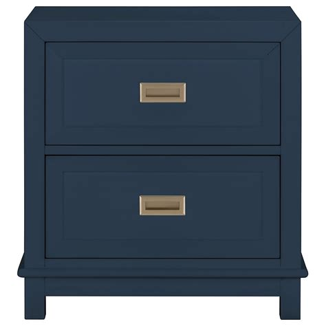 blue nightstand city furniture dk blue 2 drawer nightstand