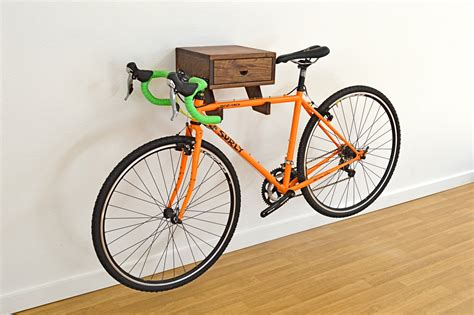 The Bicycle Rack by The Clifton Bike Rack Stylish Wall Mount Indoor Bike Shelf