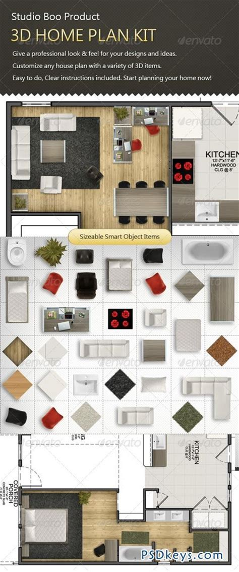 3d home kit design works 3d home plan kit 1299158 187 free download photoshop vector