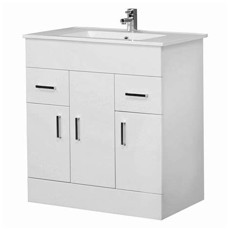 800 Vanity Unit by Premier Cardinal Minimalist Gloss White Vanity Unit 800
