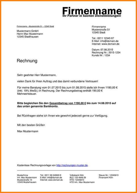 Rechnung An Schweiz Stellen 11 Eine Rechnung Stellen Invitation Templated