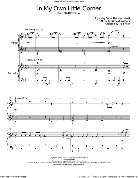 richard rodgers my sheet rodgers in my own corner sheet for piano