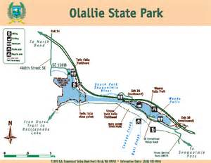 state park map olallie state park