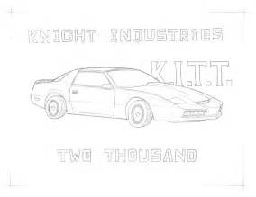 gallery gt kitt knight rider coloring pages