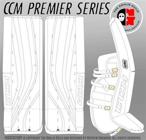 hockey pads coloring pages new ccm premier series goal pads mock up goalie gear nation