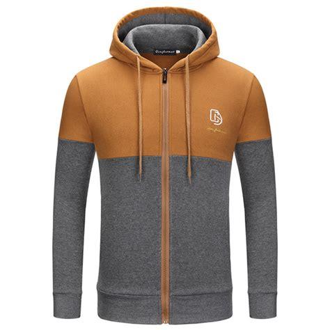 Jaket Casual Jaket Fashion Pria Cz 551 fashion fight color stitching hoodie jacket mens casual zipper sweatshirts alex nld