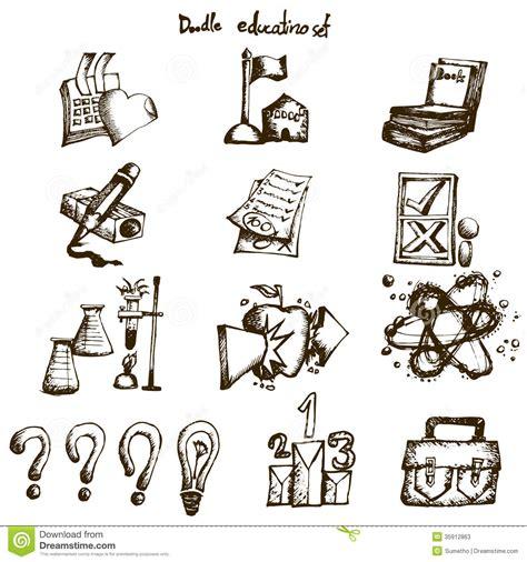 item doodle draw doodle education set stock photos image 35912863