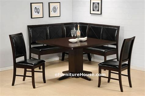 Cappuccino Square Corner Kitchen Dining Table Set   Home