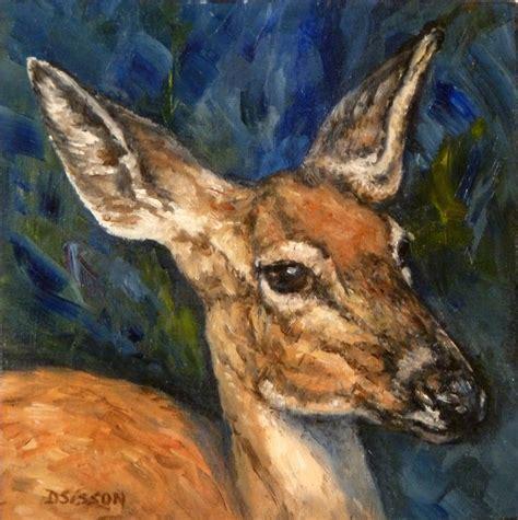 painting animals daily painters of arkansas doe portrait debra sisson