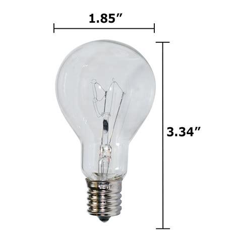 130v 40w light bulb satco s4164 40w 130v a15 clear e17 intermediate base