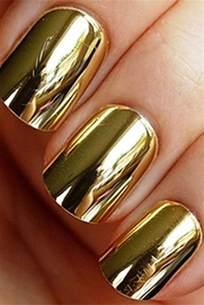 metallic gold nail polish polished pinterest