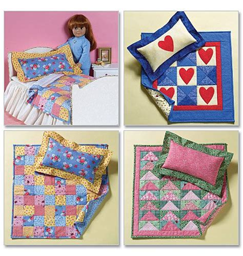 Doll Quilt Pattern by 18 Inch Doll Bed Quilts Pattern B 4538 Free Shipping