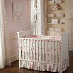 Baby Crib Set Pink And Taupe Damask Crib Bedding Crib Bedding