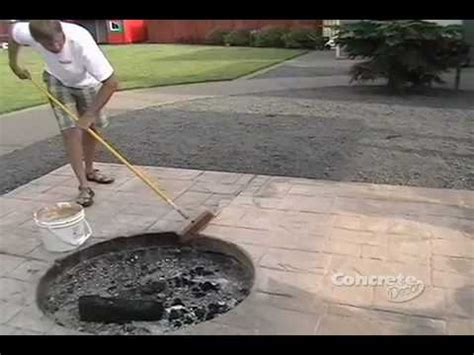 restoring color   stamped concrete patio youtube
