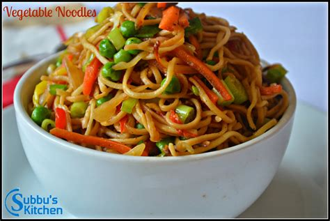 new year vegetarian noodles vegetable noodles subbus kitchen