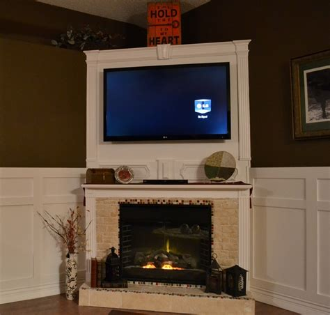 moved electric fireplace to the corner and built around it
