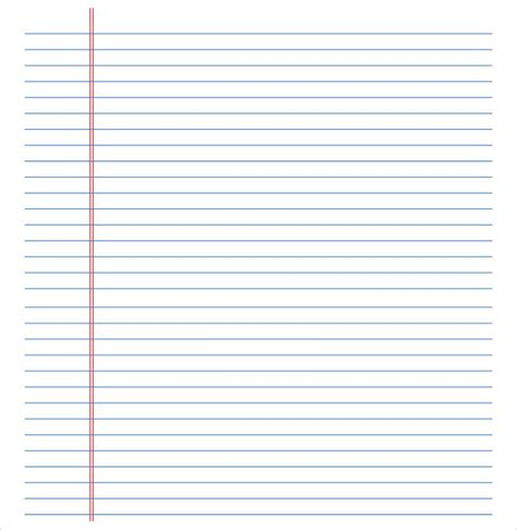 lined paper template word lined paper template 12 free documents in pdf