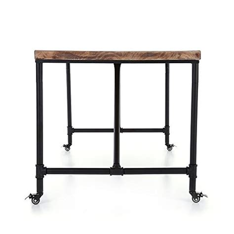 ikayaa antique kitchen dining table metal meeting