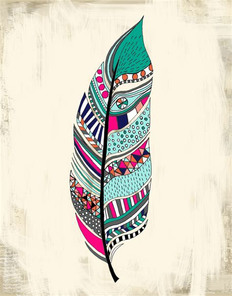 tribal print tattoo new tribal feather print a and brush
