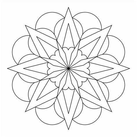 simple mandala designs coloring home