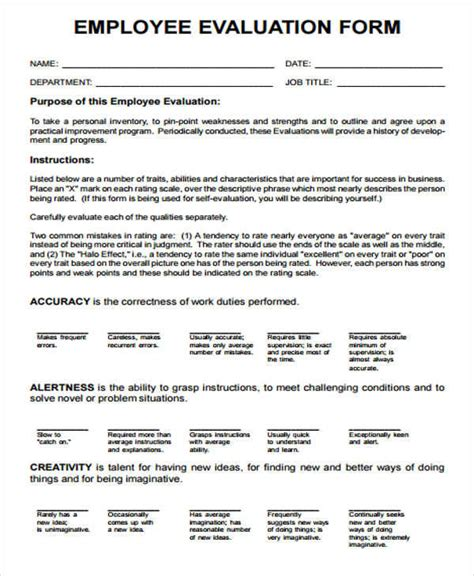 performance sle evaluation employee evaluation report sle 28 images sle employee