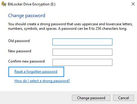 reset windows password bitlocker how to encrypt usb drive on windows 10