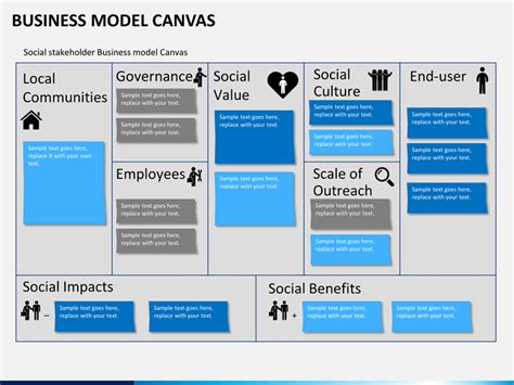 business model presentation template business model canvas powerpoint template sketchbubble