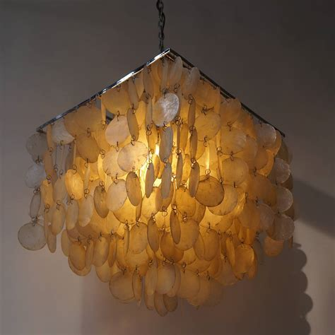 Capiz Pendant Chandelier Capiz Shell Chandelier By Verner Panton For Sale At 1stdibs