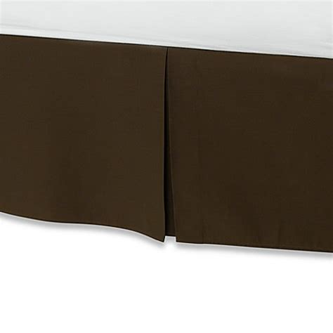 long bed skirt buy smoothweave 14 inch tailored twin extra long bed skirt in chocolate from bed