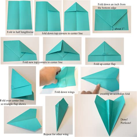 Paper Aeroplane Folding - print this east to follow paper airplane tutorial