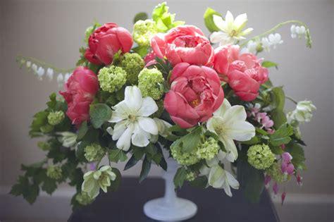 peony floral arrangement peonies flirty fleurs the florist blog inspiration for