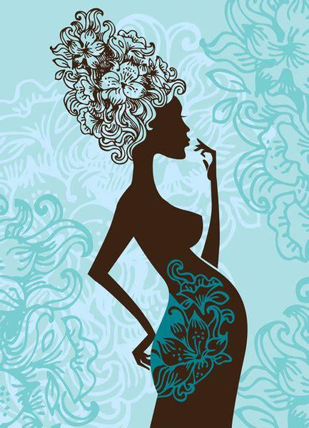 design art pic free pregnant woman silhouette clip art free vector