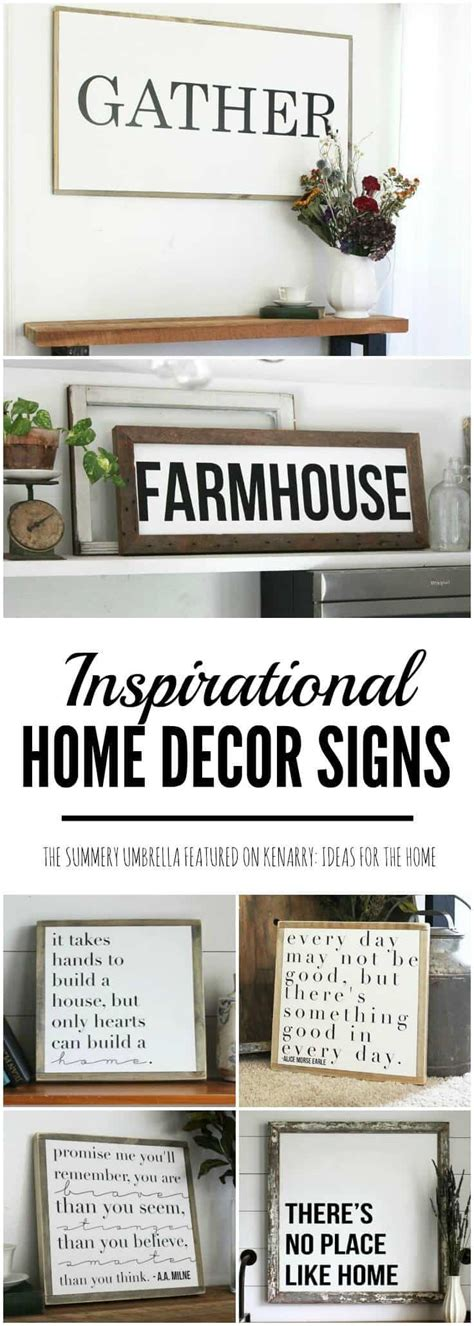How To Make Home Decor Signs | inspirational home decor signs rustic and modern