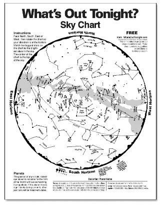 Printable Star Map Tonight | 10 ways to prepare for summer solstice