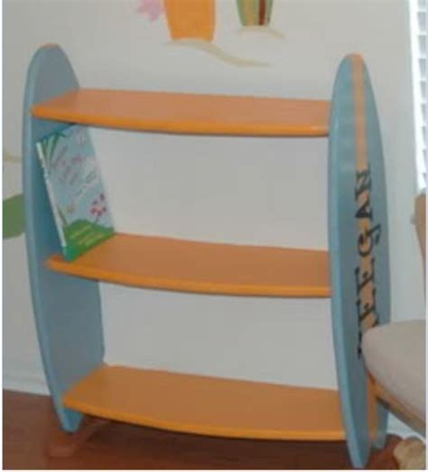 surfboard bookshelf bookcases furniture rooms for