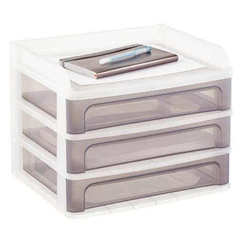 stackable desktop drawers the container store