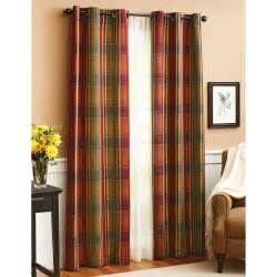 Better Homes And Gardens Blackout Curtains Better Homes And Gardens Plaid Window Panel Walmart Com