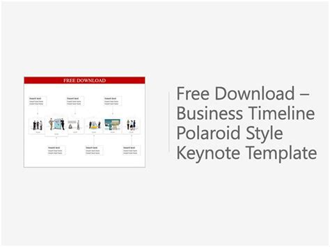 free keynote templates for business free downloadable business timeline polaroid style keynote