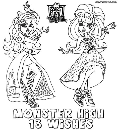 coloring pages monster high 13 wishes monster high 13 wishes coloring pages coloring pages to
