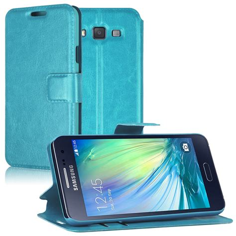 Samsung A3 2015 A300 Leather Flip Wallet Cover Murah hybrid pu leather card pouch flip wallet cover stand