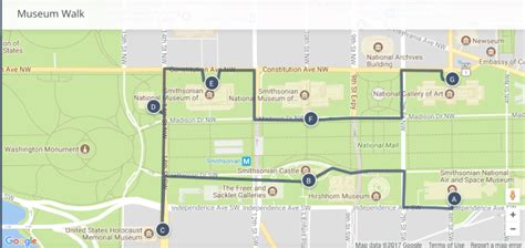 washington dc map museum washington dc 7 major museums highlights and walking