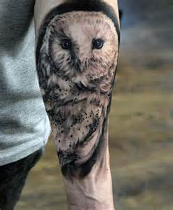 60 barn owl tattoo designs for men lunar creature ink ideas