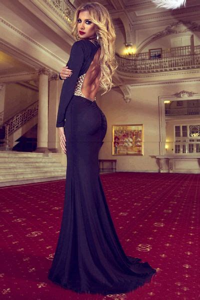 black prom dress mermaid prom dress simple prom gown backless prom dresses evening gowns