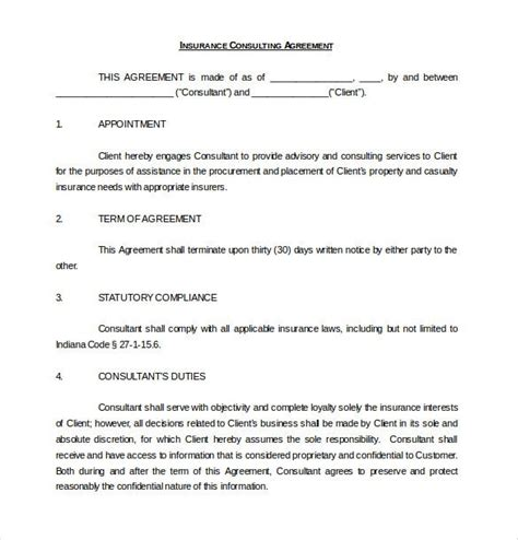 consulting agreement templates docs pages