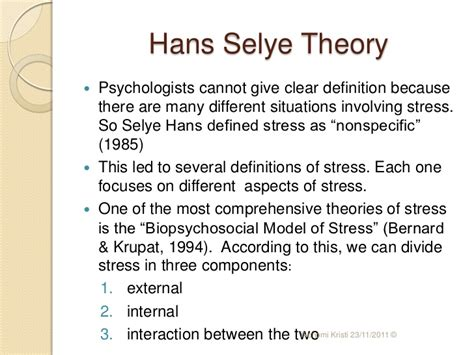 stress the psychology of managing pressure books stress theory