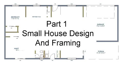 house floor plan with measurements part 1 floor plan measurements small house design and framing youtube