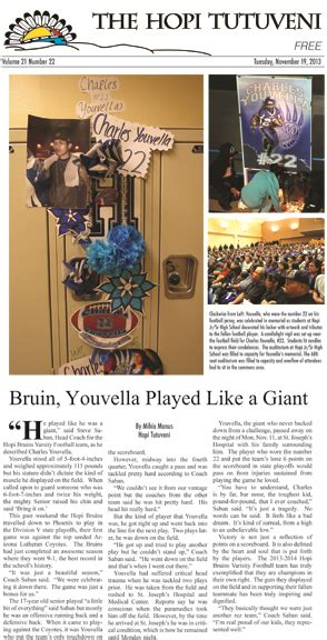 newspaper layout indd nov 19th tutveni layout indd the hopi tribe