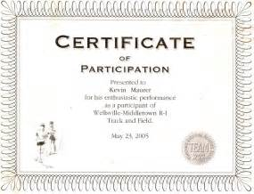 participation certificate templates free best photos of wording for certificate of participation