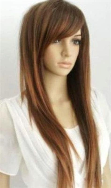 hairstyles for long straight hair with highlights hairstyle for straight long black hair images