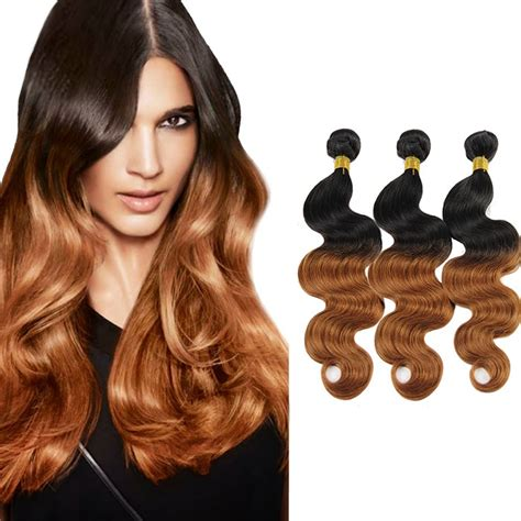 whats the name for hair color light on top and dark underneath ombre hair weave with body wavy brazilian hair